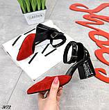 Шикарные летние туфли женские на каблуке, фото 4
