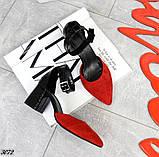 Шикарные летние туфли женские на каблуке, фото 5