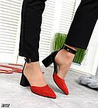 Шикарные летние туфли женские на каблуке, фото 2