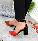 Шикарные летние туфли женские на каблуке, фото 7