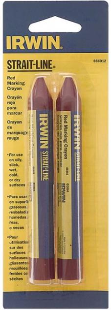 Крейда-олівець розмічальний Irwin Strait-Line 2 шт Червоний (666012)