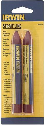 Крейда-олівець розмічальний Irwin Strait-Line 2 шт Червоний (666012), фото 2
