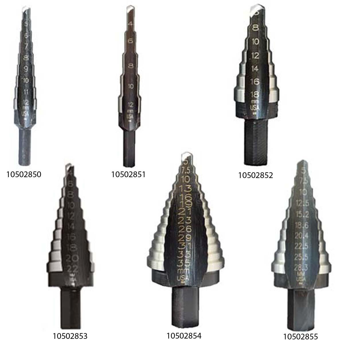 Багатоступінчасте свердло UNIBIT 1M 4-12 мм 9 HOLES