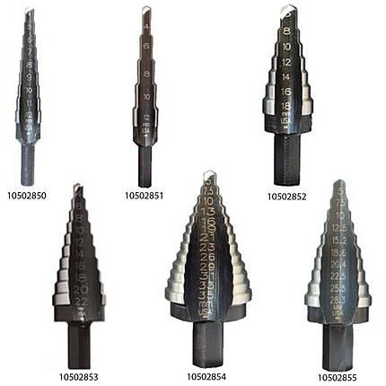 Багатоступінчасте свердло UNIBIT 1M 4-12 мм 9 HOLES, фото 2