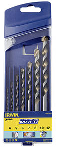 Набір свердел багатоцільових CORDLESS CASSETTE 7 шт. (4/5/6/7/8/10/12мм), IRWIN