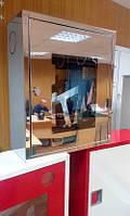 Пожарный шкаф Goobkas ШПК-310 из нержавейки зеркальный