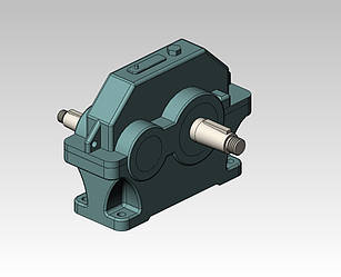 Редуктор 1ЦУ-200-2-11-У2, ЦУ-200-2-11-У2 цилиндрический горизонтальный одноступенчатый