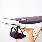 Массажный стол деревянный 3-х сегментный RelaxLine Mirage кушетка массажная для массажа, фото 5