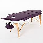 Массажный стол деревянный 3-х сегментный RelaxLine Mirage кушетка массажная для массажа, фото 2