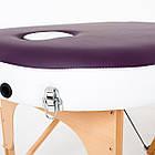 Массажный стол деревянный 3-х сегментный RelaxLine Mirage кушетка массажная для массажа, фото 7
