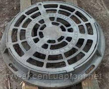 Дощоприймач чавунний круглий типу ДБ2 (В125) з замком 4 вуха корпус 790х95 мм , 12,5 тн