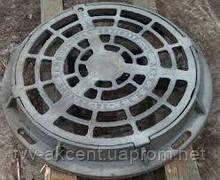 Дождеприемник чугунный круглый типу ДБ2 (В125) с замком 4 уха корпус 790х95 мм , 12,5 тн