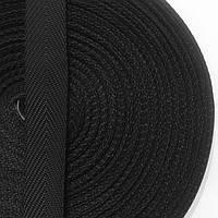 Лента ременная 100% Полипропилен 25мм цв черный (боб 50м) р 3019 Укр-б