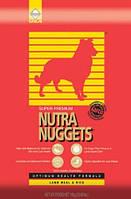 Nutra Nuggets (Нутра Нагетс) Сухой корм для собак Lamb Rice 15кг (красная)