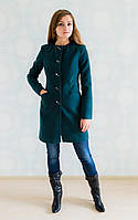 Кашемировое пальто с оригинальными кнопками