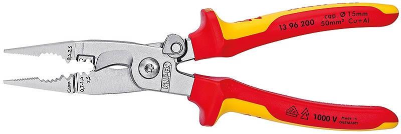 Багатофункціональні кліщі для електромонтажних робіт KNIPEX 13 96 200, фото 2