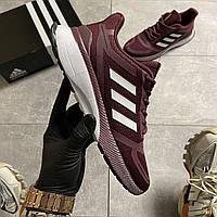 Кроссовки мужские Adidas Cloudfoam Mesh Burgundy. Стильные мужские кроссовки., фото 1