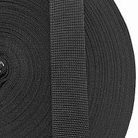 Лента ременная 100% Полипропилен 40мм цв черный (боб 50м) р 2941 Укр-б