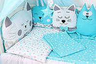 Комплект в кроватку в Голубых цветах, фото 2