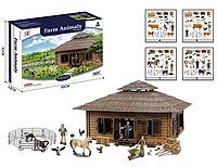 Ферма для детей модель Q 9899 ZJ61,в наличии 4 вида, в коробке фигурки фермеров и множество аксессуаров.