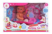 Детская кукла пупс беби борн, набор с ванной для купания