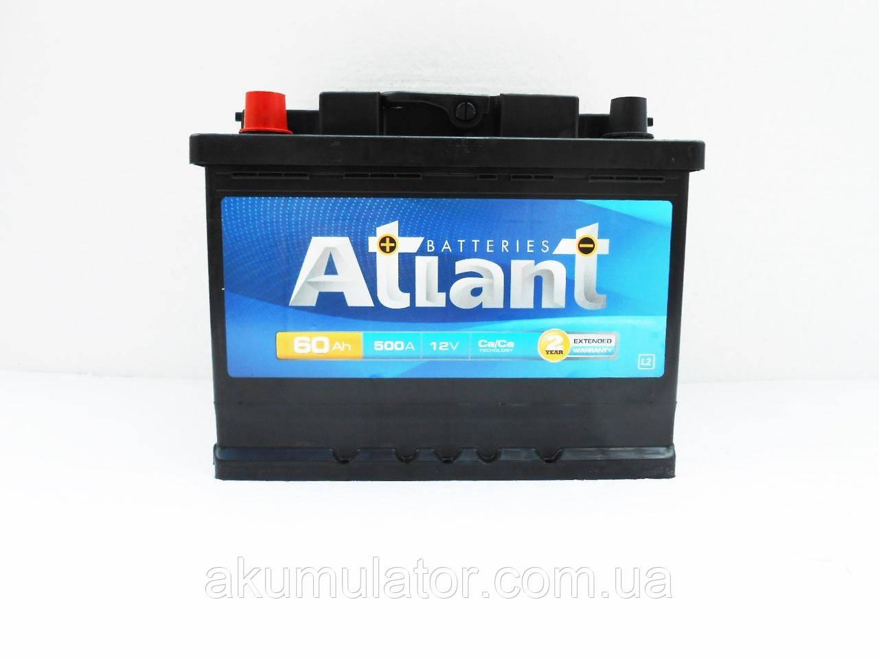 Акумулятор автомобільний ATLANT 60-1 (L+) (500A)