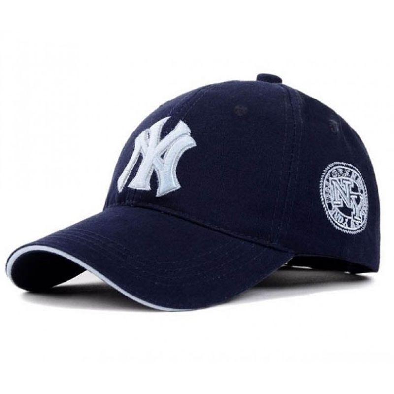 Модна бейсболка NY. Колір: темно-синій