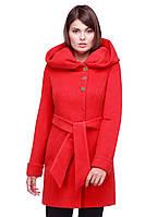 Женское пальто  Мелиса яркого красного цвета, фото 1
