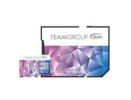 Карта памяти MicroSDHC 16GB UHS-I U3 Team Color II + Adapter SD Purple Blue (TCIIUSDH16GU349)