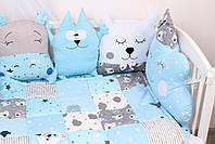 Комплект в кроватку в Голубых тонах, фото 4