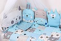 Комплект в кроватку в Голубых тонах, фото 5