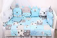 Комплект в кроватку в Голубых тонах, фото 3