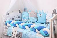 Комплект в кроватку в Голубых тонах, фото 2