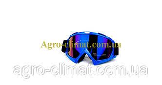 Кроссовые очки 634 motokross синие, фото 2