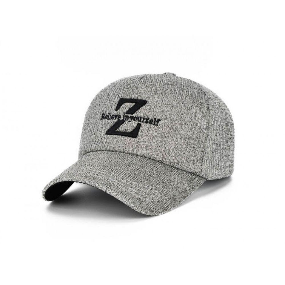 Мужская осенняя кепка серого цвета Z-style