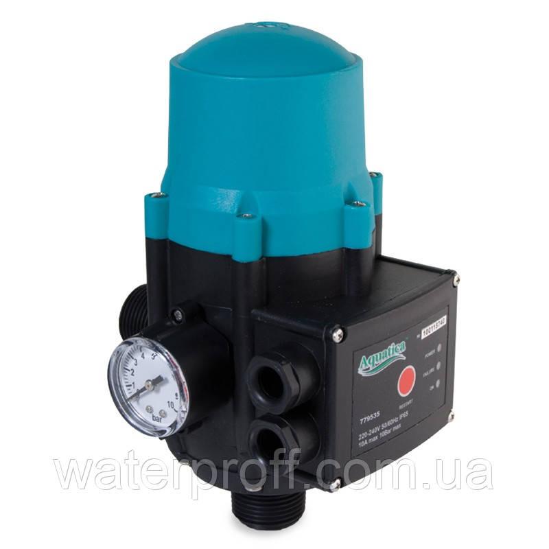 """Контроллер давления электронный 1.1кВт Ø1"""" авт поиск воды + рег давл вкл 1.5-3.0 bar Aquatica (77953"""