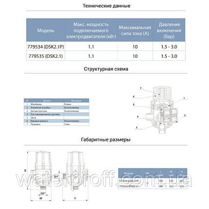 """Контроллер давления электронный 1.1кВт Ø1"""" авт поиск воды + рег давл вкл 1.5-3.0 bar Aquatica (77953, фото 2"""
