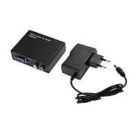Конвертор VGA в HDMI + R/L (гн.VGA - гн.HDMI + 2гн.RCA), DC-5V