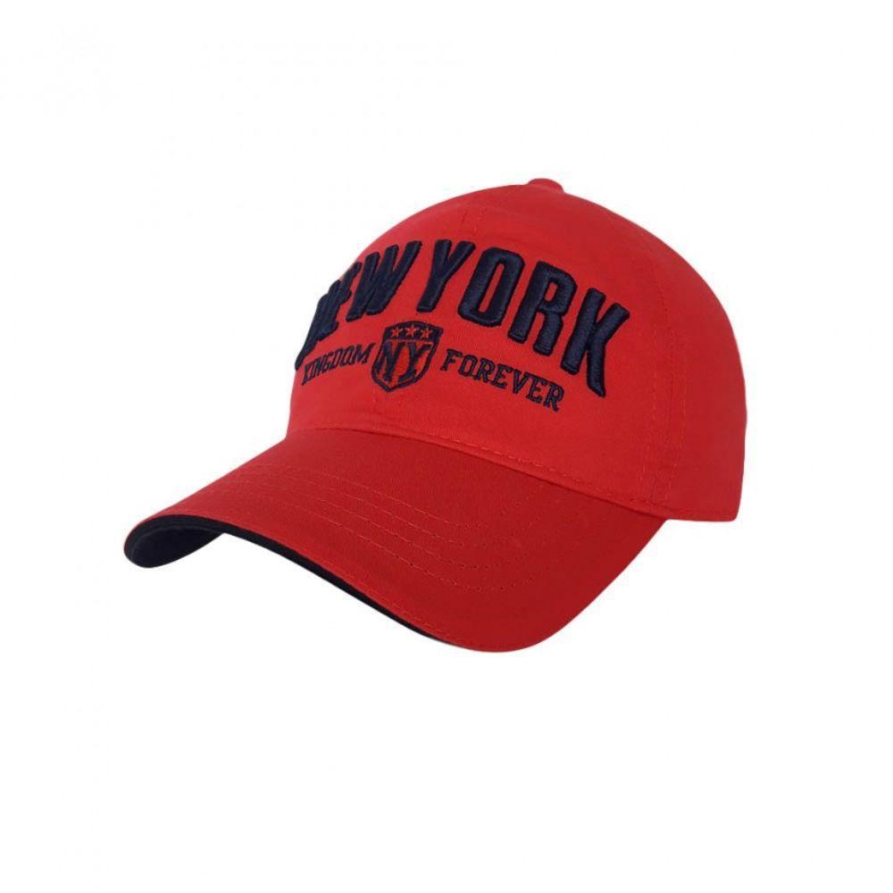 Детская бейсболка New York красного цвета