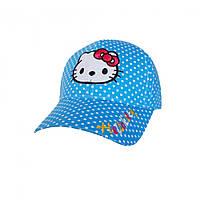 Крутые кепки для девочек Hello Kitty голубого цвета