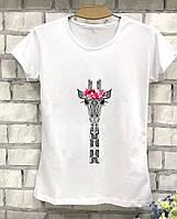 Женская футболка с жирафом