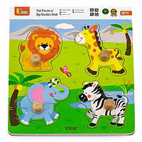 "Рамка-вкладиш Viga Toys ""Дикі тварини"" (50840)"