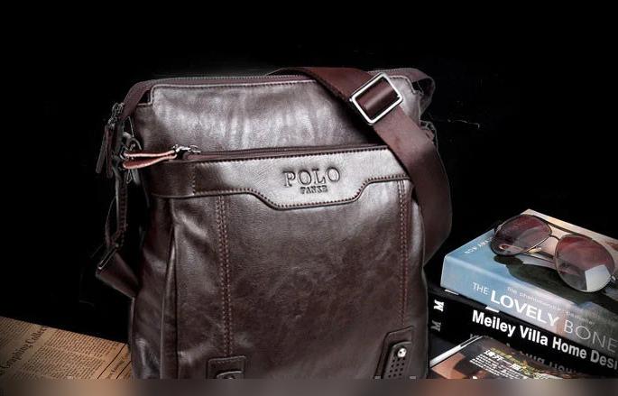 Сумка мужская Polo Fanke (9012) коричневая