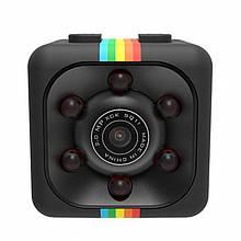 Мини камера видеорегистратор SQ11 с ночной съемкой, датчиком движения и углом обзора 140° Черный
