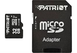 Карта памяти MicroSDHC  32GB UHS-I Class 10 Patriot LX + Adapter SD (PSF32GMCSDHC10)