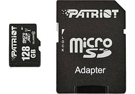 Карта памяти MicroSDXC 128GB UHS-I Class 10 Patriot LX + Adapter SD (PSF128GMCSDXC10)