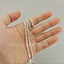 Серебряная цепочка Арабка с камнями. Женское колье из серебра., фото 3