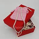 Серебряная цепочка Арабка с камнями. Женское колье из серебра., фото 4