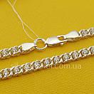 Срібна ланцюжок Арабка з камінням. Жіноче кольє з срібла., фото 2