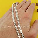 Срібна ланцюжок Арабка з камінням. Жіноче кольє з срібла., фото 7